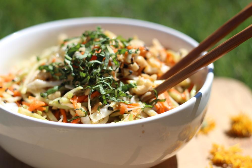 Asian Peanut Broccoli Slaw