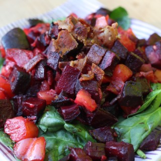 Bacon, Beet & Heirloom Tomato Salad